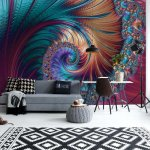 Modern-Abstract-Spiral-Design-Photo-Wallpaper-Mural-(11706VE)