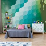 Abstract-Modern-Green-And-Blue-Pattern-Photo-Wallpaper-Mural-(1419VE)