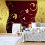 Luxury-Gold-And-Red-Floral-Swirl-Design-Photo-Wallpaper-Mural-(2053VE)