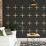 Modern-Square-Design-Yellow-Lights-Photo-Wallpaper-Mural-(2301VE)