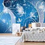 Luxury-Ornamental-Floral-Design-Blue-Photo-Wallpaper-Mural-(2363VE)