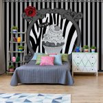 Cupcake-Stripes-Grey-Photo-Wallpaper-Mural-(2388VE)