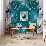 Abstract-Modern-Design-Turquoise-Photo-Wallpaper-Mural-(2437VE)