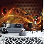 Orange-Red-Yellow-Modern-Abstract-Design-Photo-Wallpaper-Mural-(2483VE)