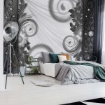Ornamental-Floral-Design-Black-And-White-Photo-Wallpaper-Mural-(2817VE)