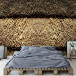 Straw-Roof-Texture-Photo-Wallpaper-Mural-(2932VE)