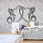 Abstract-Hearts-Design-Grey-Photo-Wallpaper-Mural-(2968VE)