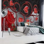 Rose-Hearts-Modern-Design-Photo-Wallpaper-Mural-(303VE)