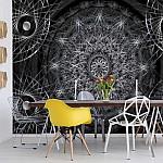 3D-Dreamcatcher-Design-Black-And-White-Photo-Wallpaper-Mural-(3050VE)