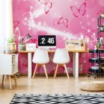 Butterflies-Pink-Sparkles-Photo-Wallpaper-Mural-(332VE)