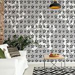 Stars-Pattern-Grey-And-White-Photo-Wallpaper-Mural-(3471VE)