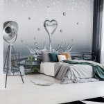 Water-Drops-Heart-Photo-Wallpaper-Mural-(3490VE)