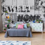 Sweet-Home-Black-And-White-Vintage-Chic-Photo-Wallpaper-Mural-(3640VE)