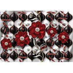 3D-Luxury-Floral-Design-Photo-Wallpaper-Mural-(12051VE)
