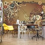 Flowers-Abstract-Swirl-Design-Photo-Wallpaper-Mural-(8-008VE)