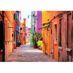 Old-Colourful-Street-Photo-Wallpaper-Mural-(10745VE)