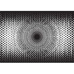 Halftone-Dots-Circle-Pattern-Black-And-White-Photo-Wallpaper-Mural-(1487VE)