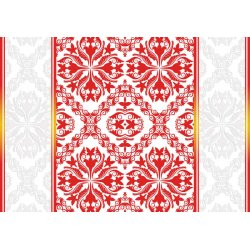 Red-Grey-And-White-Ornamental-Pattern-Photo-Wallpaper-Mural-(2289VE)