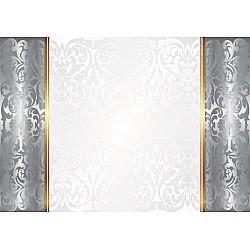 Silver-And-White-Luxury-Ornamental-Design-Photo-Wallpaper-Mural-(2035VE)