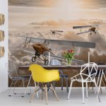 Planes Flying Above The Clouds Photo Wallpaper Mural (10605VE)