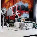 Fire Truck Photo Wallpaper Mural (1993VE)
