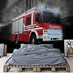 Fire Truck Photo Wallpaper Mural (2023VE)