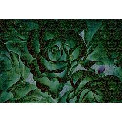 Designer Mural 13502V8 - Green Flower