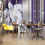 Luxury-Floral-Design-Orchids-Purple-Photo-Wallpaper-Mural (1283VE)