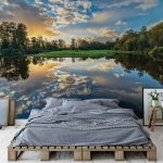 Tranquil Lake Photo Wallpaper Mural (12011VE)