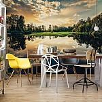 Tranquil Lake Photo Wallpaper Mural (12024VE)