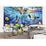 Dolphins Group Selfie Wallpaper Mural (12851VE)