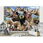 Animals in Mountains Selfie Wallpaper Mural (12863VE)