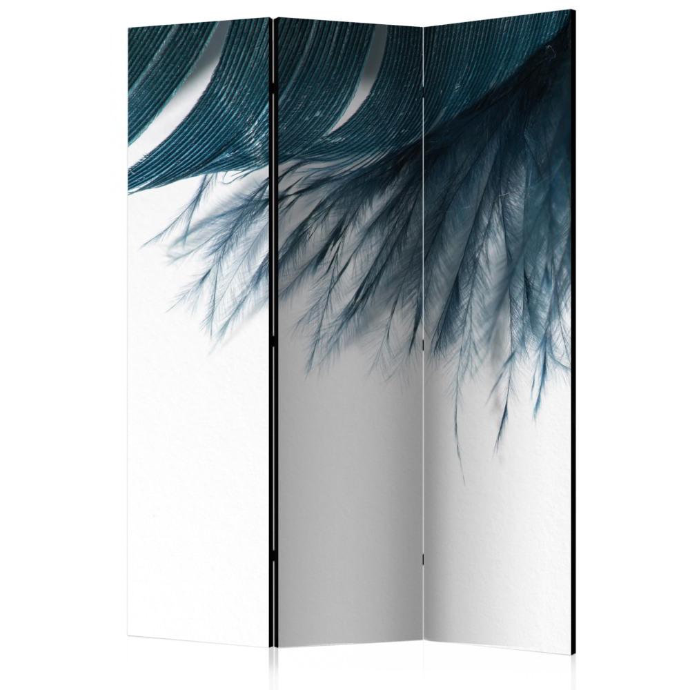 Room Divider Dark Blue Feather (135 x 172 cm)