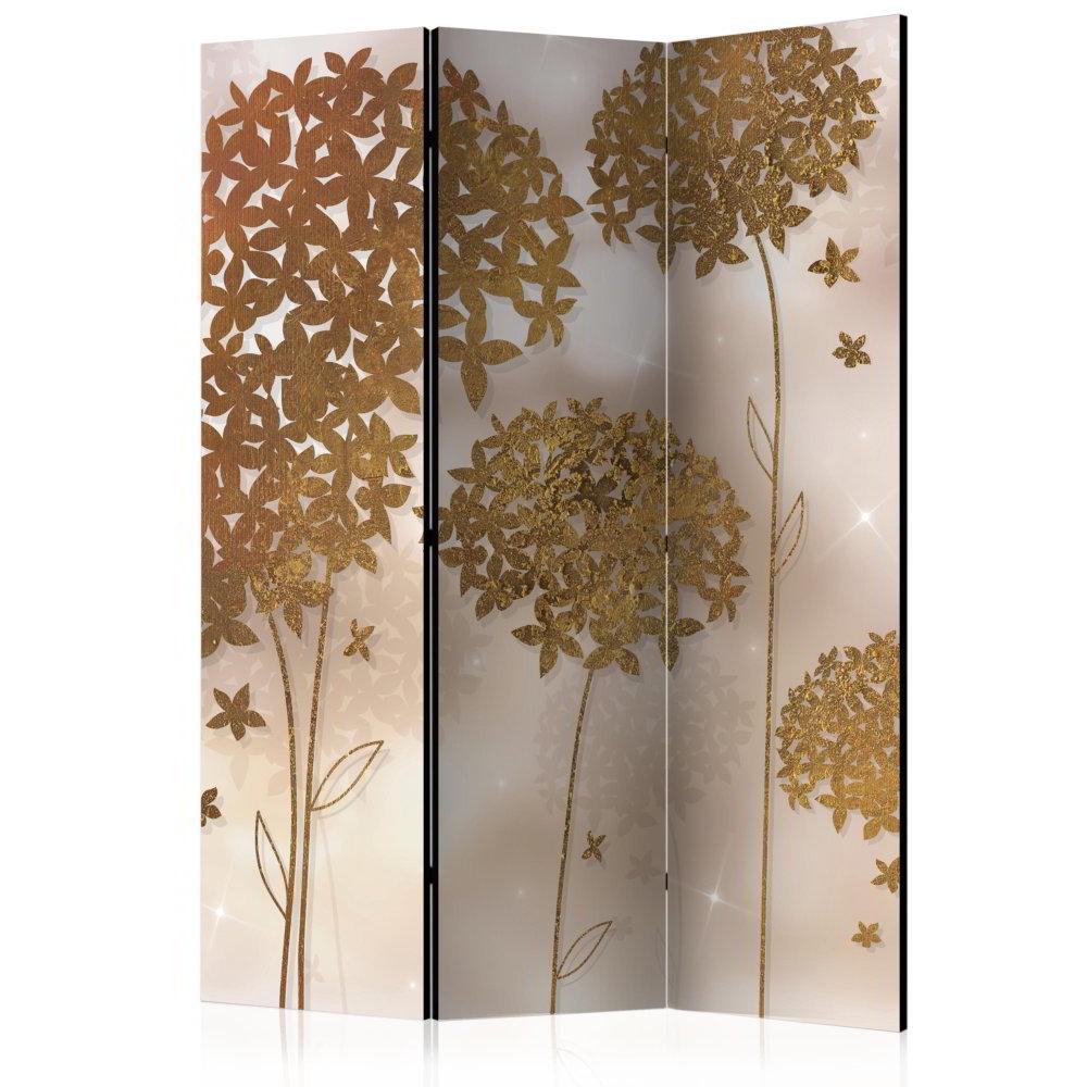 Room Divider Golden Garden (135 x 172 cm)