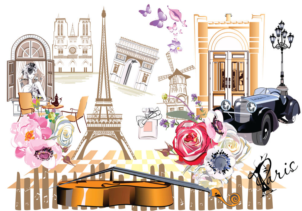 Wall Mural Paris Streetscape Collage (99980067)