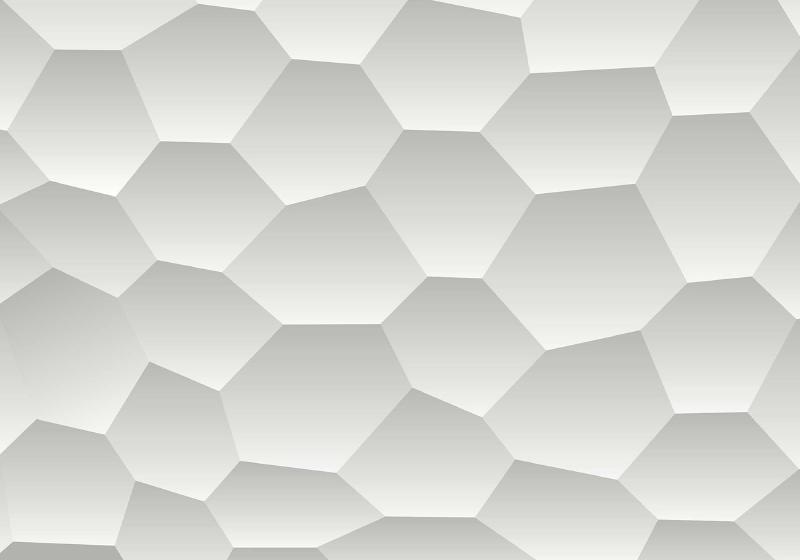 3D Honeycomb Texture Grey Photo Wallpaper Mural (2953VE)