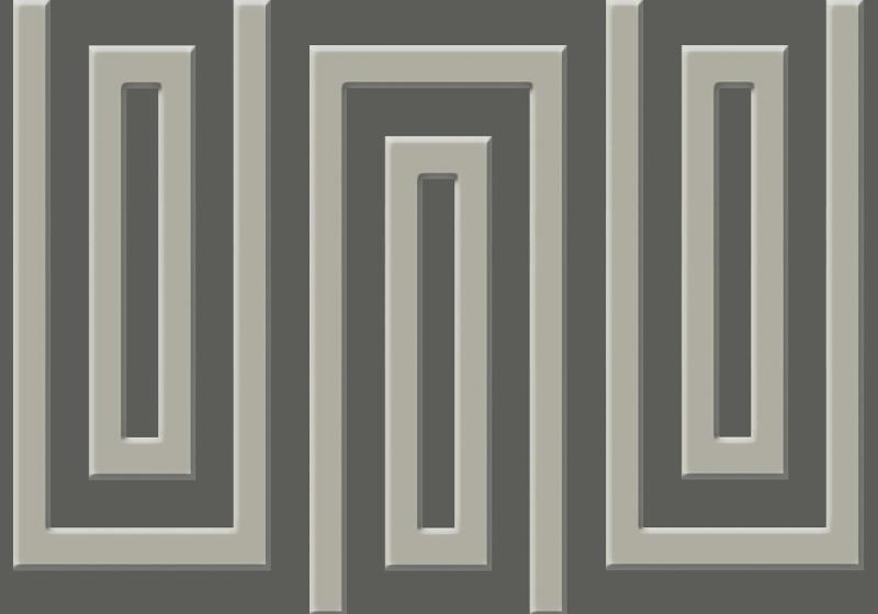 Brown And Beige Geometric Pattern Photo Wallpaper Mural (859VE)