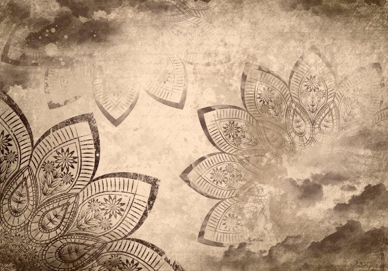 Mandala-Clouds-Sky-Sepia-Photo-Wallpaper-Mural-(2571VE)